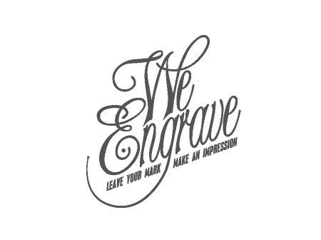 We Engrave Logo Design