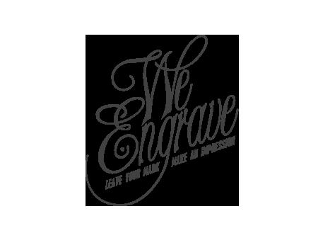 We Engrave Logo Design