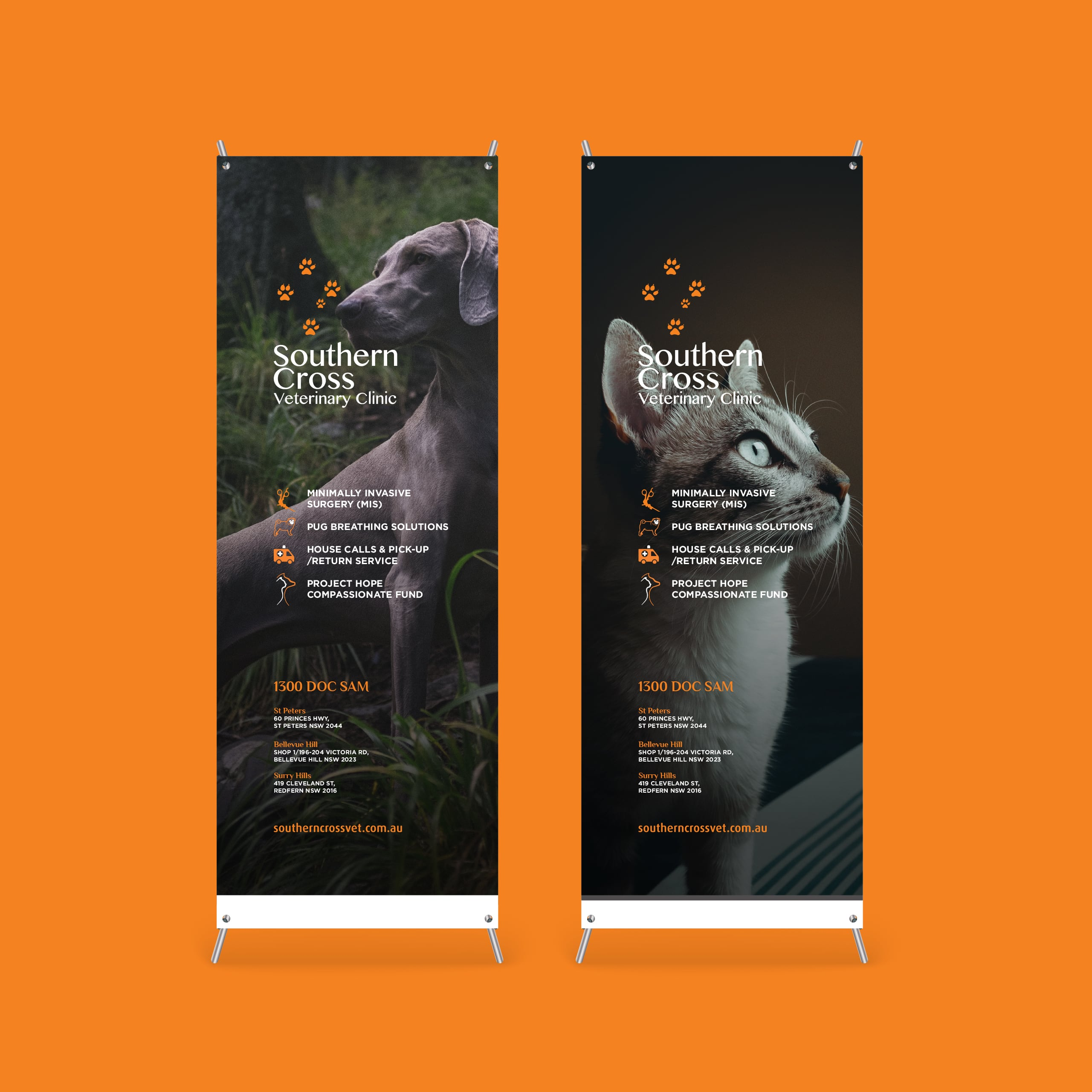 Southern Cross Vet Responsive Rollup Banners